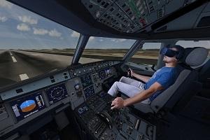 Motion 4D Simulator am Flughafen Frankfurt Gateway Gardens - Action-Flug mit VR Brille & patentiertem Motion-Sitz