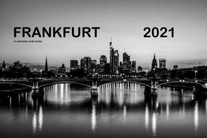 Frankfurt Kalender 2021 - 365 Tage Mainmetropole in schwarz-weiß