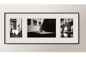 Max Kling // Bild Triptychon 2 (Braubachstraße | Schirn | Hauptbahnhof)