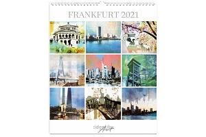 Kunstkalender Frankfurt 2021 - 365 Tage Mainmetropole in bunt