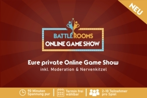 5er-Bundle Ticket für die Battle Rooms - Online Game Show: Die wohl spannensten 90 Minuten im Quiz-Show-Format